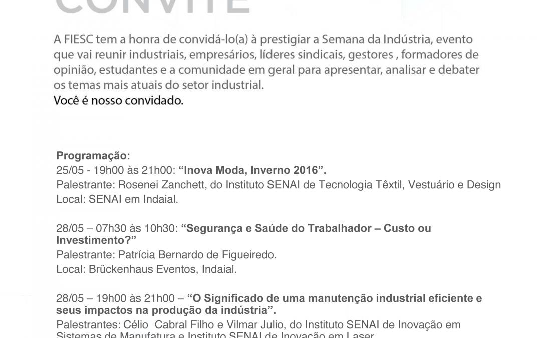 Indaial tem programação especial para a Semana da Indústria