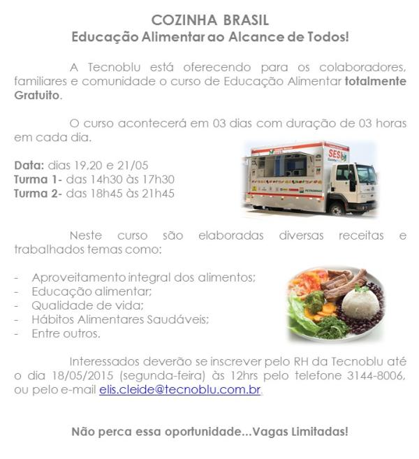 SESI Caminão Cozinha Brasil Tecnoblu