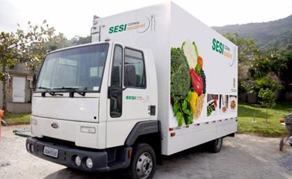 SESI Caminhão do Programa Cozinha
