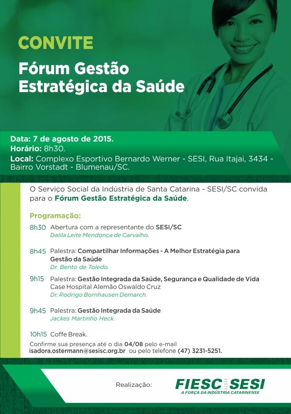 Convite_Fórum Gestão Estratégica da Saúde Blumenau