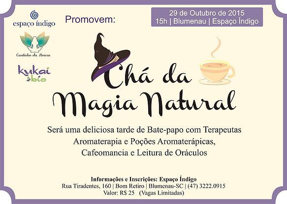 Chá de magia acontece nesta quinta-feira em Blumenau