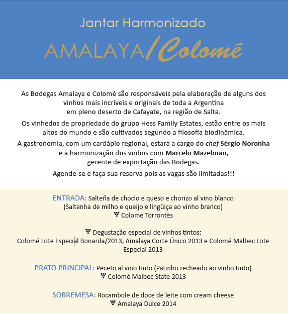 Enoteca Decanter de Florianópolis promove jantar harmonizado