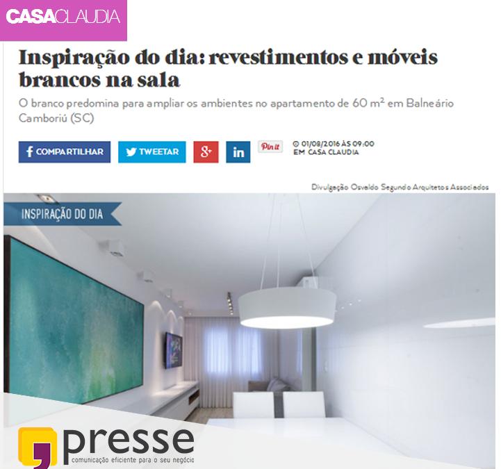 Cliente da Presse no Portal Casa Claudia