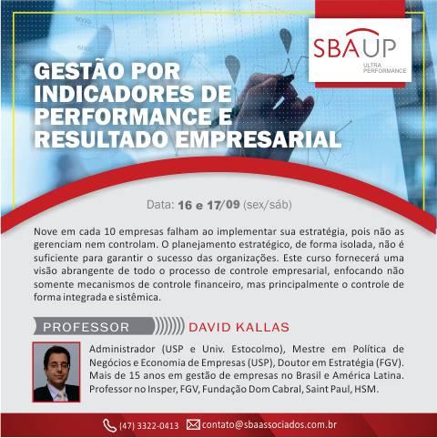 Gestão por indicadores de performance é tema de curso promovido pela SBA Consultores Associados