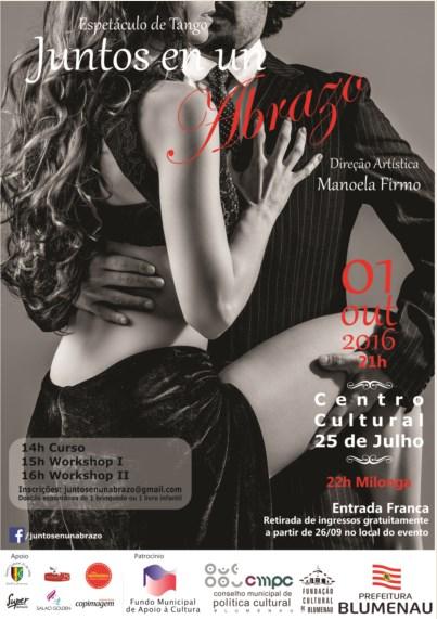 Projeto Juntos en un Abrazo traz o Tango para Blumenau
