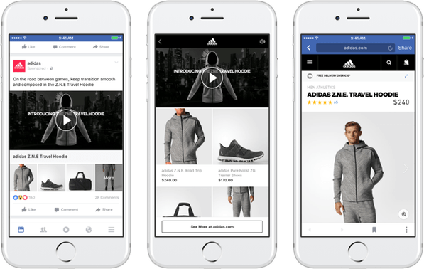 Novos formatos de publicação no Facebook e Instagram