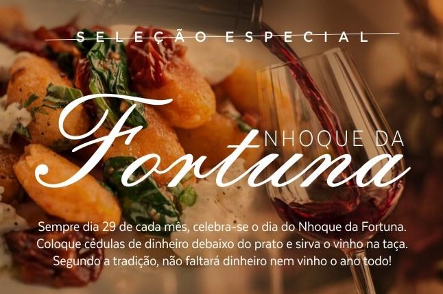 Nhoque da Fortuna é celebrado dia 29