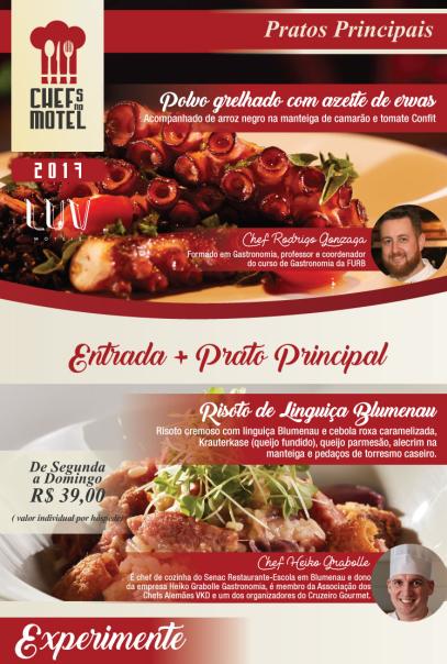 2ª edição do Chefs no Motel chega a Blumenau
