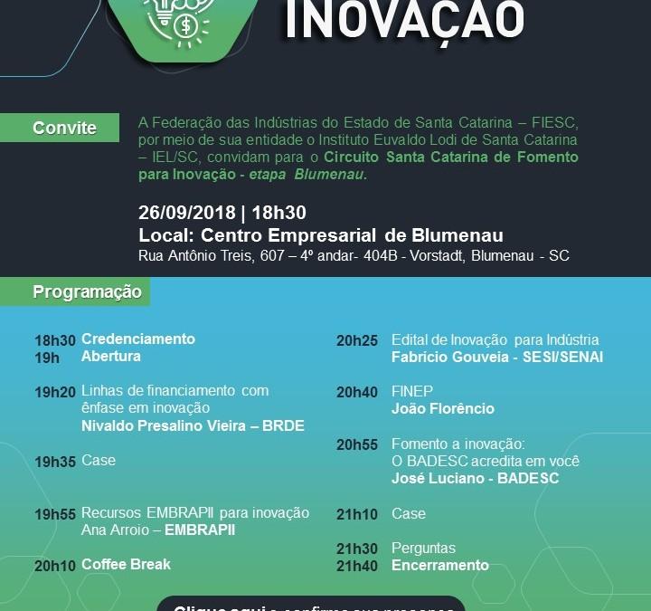 FIESC promove evento para fomentar a inovação em Santa Catarina