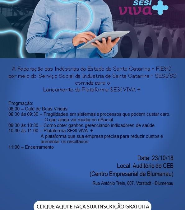 Plataforma SESI Viva + será lançada no dia 23 em Blumenau