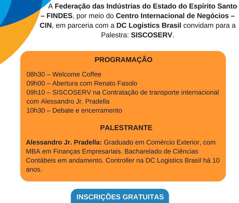 SISCOSERV será tema de palestra em Vitória no Espírito Santo