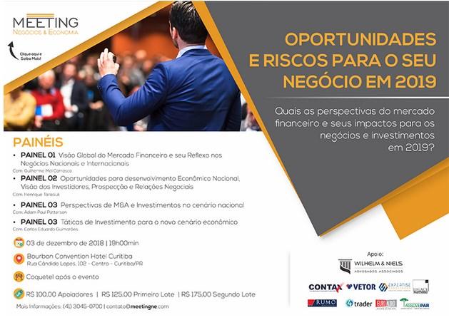 """Empresas blumenauenses apoiam debate sobre """"Oportunidades e Riscos para o seu Negócio em 2019"""""""