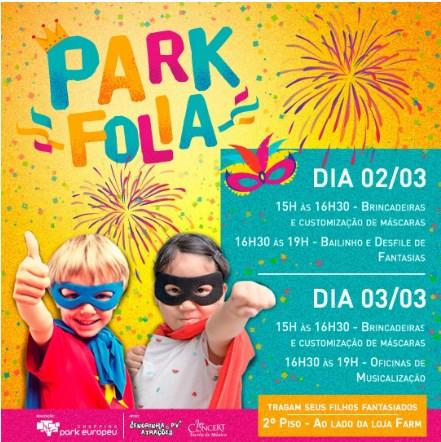 Carnaval infantil: Park Folia acontece neste fim de semana em Blumenau