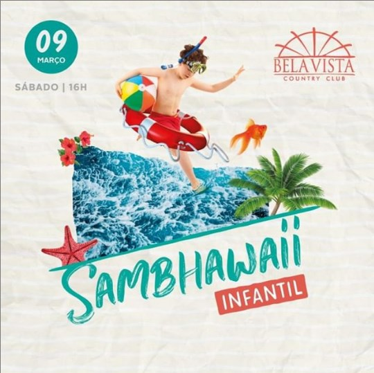 """Tropical"" é o tema do Sambhawaii infantil 2019"