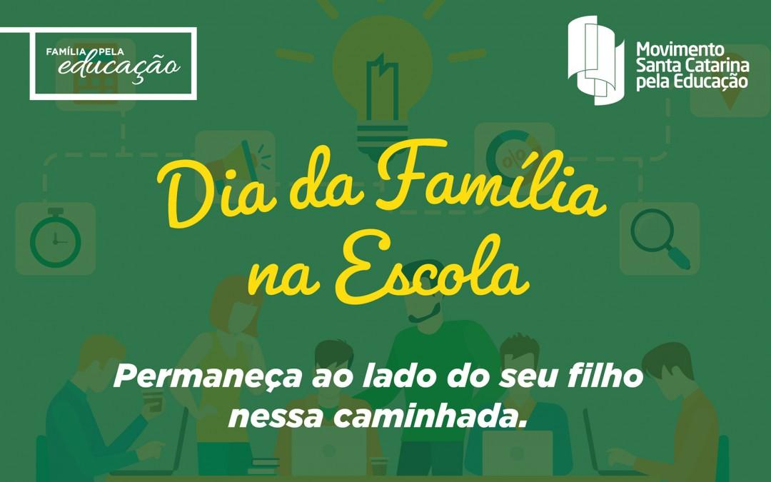 """Vale do Itajaí terá """"Dia da Família na Escola"""" neste sábado"""