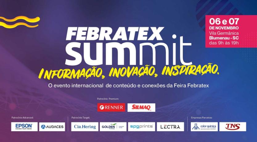 Mudança geracional e inovação serão temas abordados durante o Febratex Summit, que ocorre em novembro em Blumenau