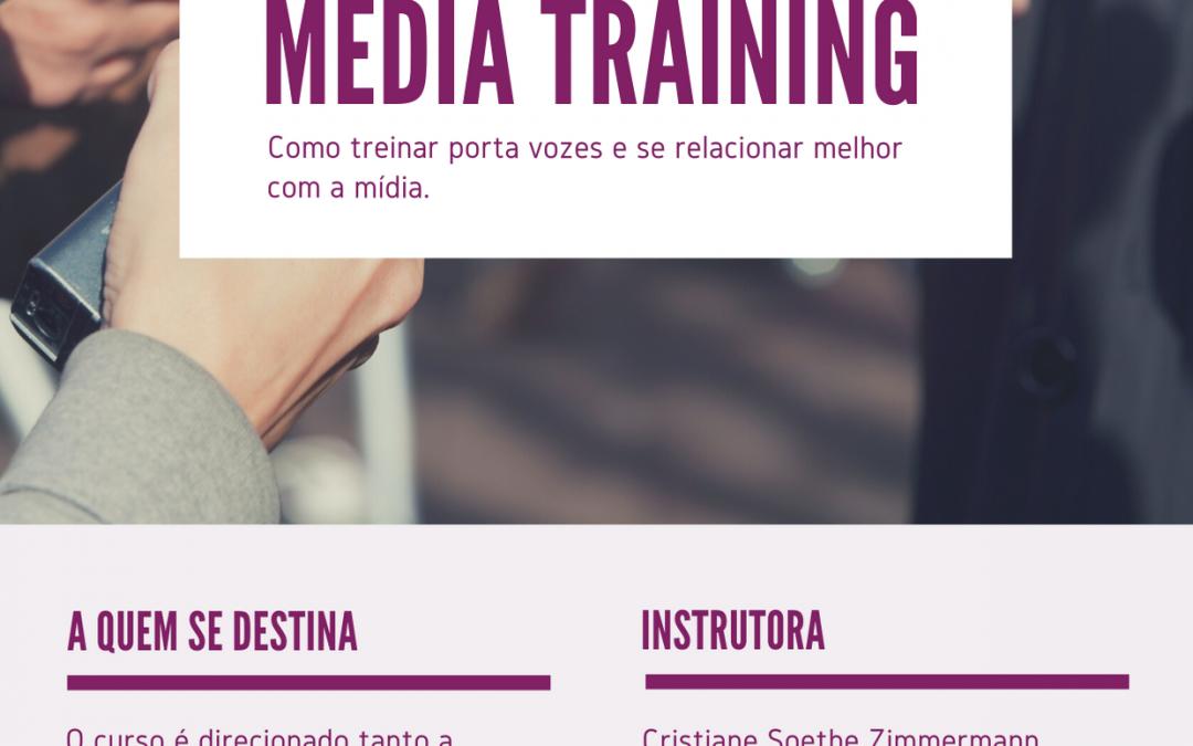 Faça nosso curso online de media training