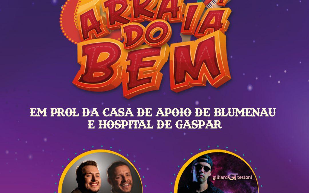 Live em prol ao Hospital de Gaspar e a Casa de apoio de Blumenau acontece neste sábado (27)