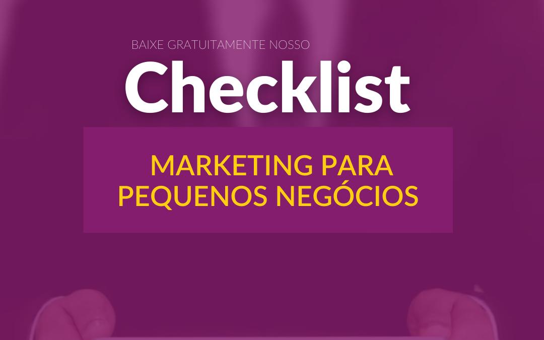 Checklist de planejamento de marketing para pequenos negócios