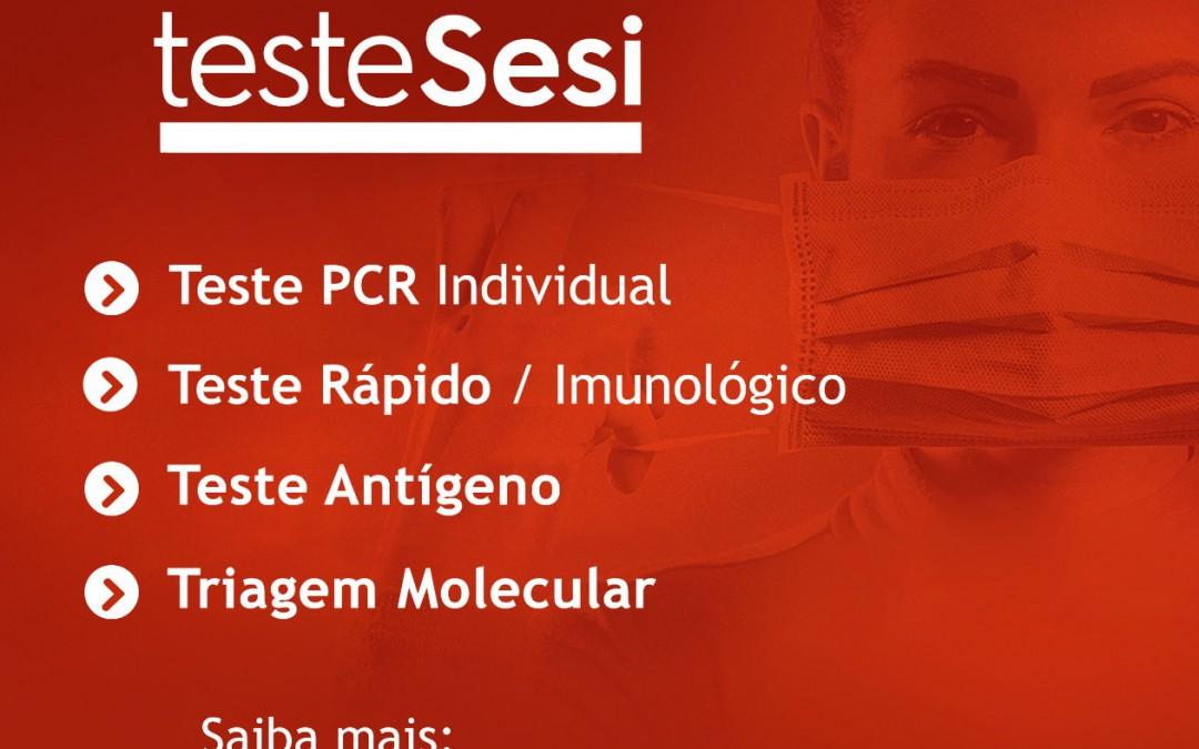 SESI Vale do Itajaí amplia as testagens para auxiliar as empresas na triagem e diagnóstico da Covid-19